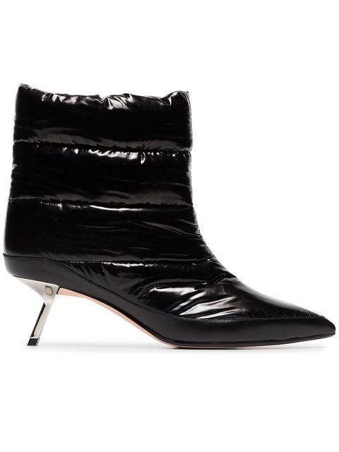Alchimia Di Ballin Black Daphne 55 Satin Puffer Boots