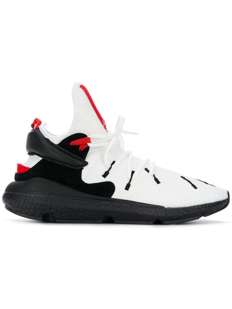 sports shoes a7310 6196b Y-3 Kusari Ii Black, White And Red Neoprene Sneaker
