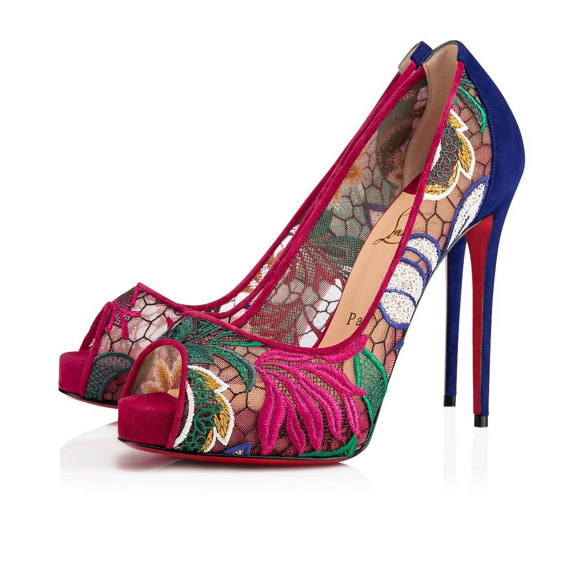 e67e6aa2457 Christian Louboutin Very Lace 120 Floral Platform Pump In Version Multi