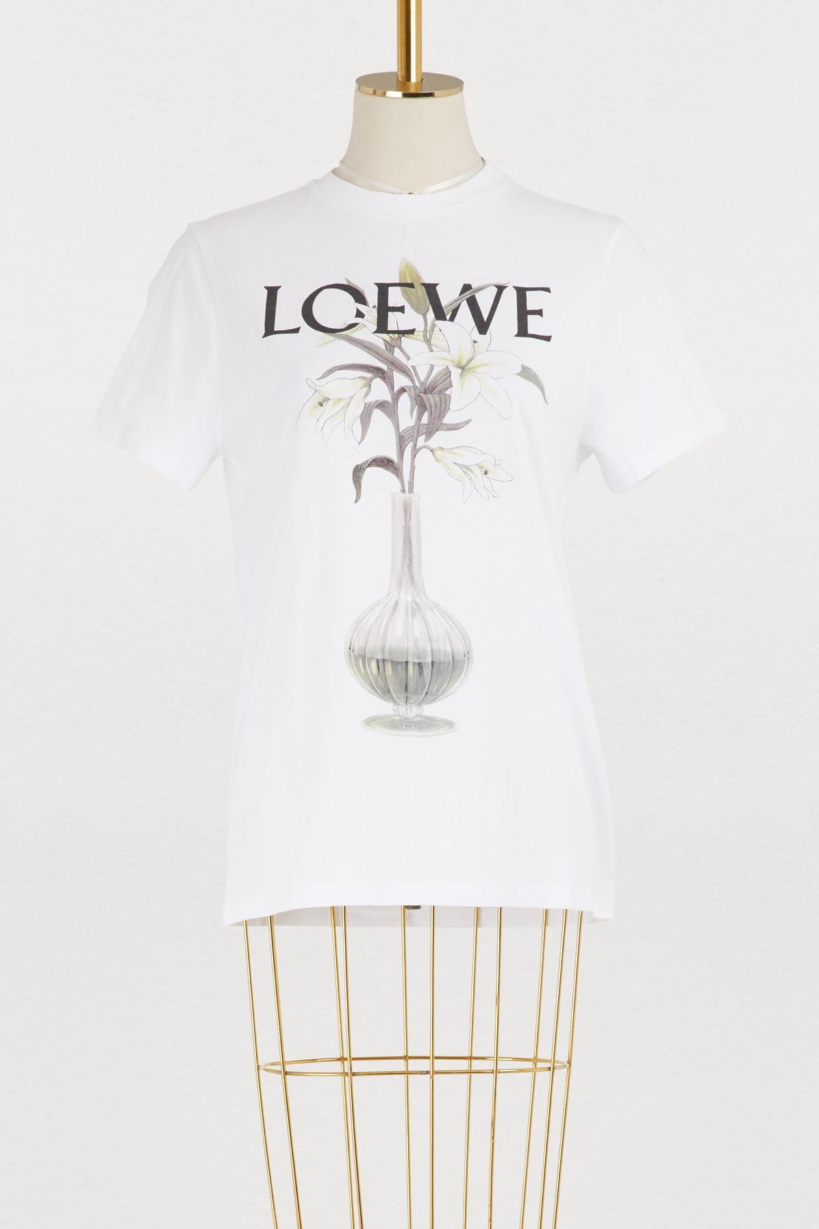 692af9804ae Loewe Logo Printed Cotton Jersey T-Shirt In White | ModeSens