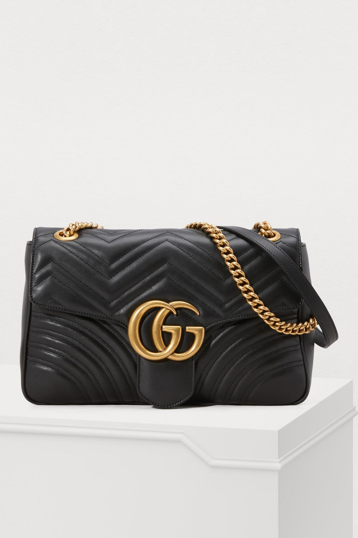 3f2c98ab44e Gucci Medium Gg Marmont 2.0 Matelasse Leather Shoulder Bag - Black ...