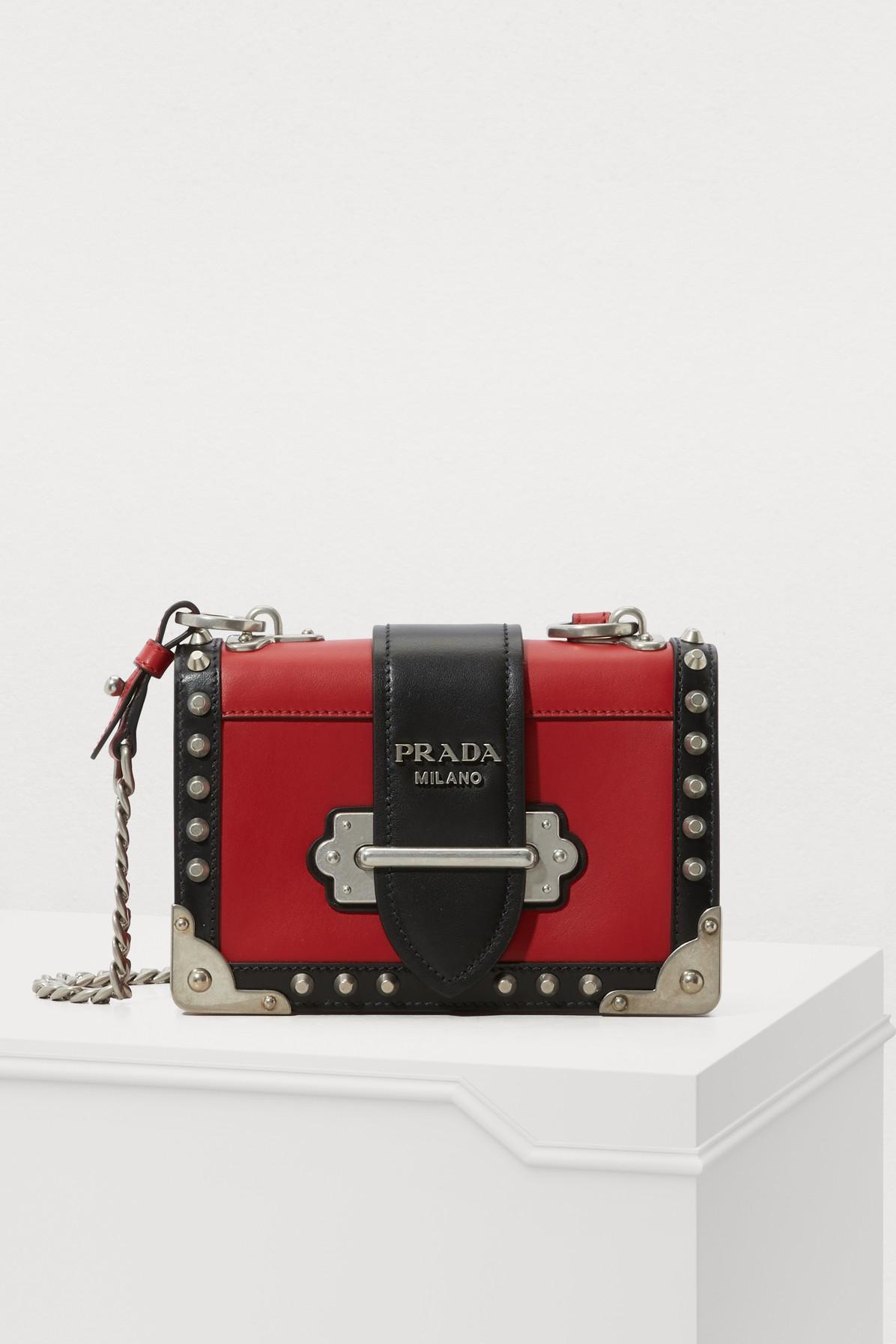 0960b7de0324 Prada Mini Cahier Crossbody Bag In Red   ModeSens