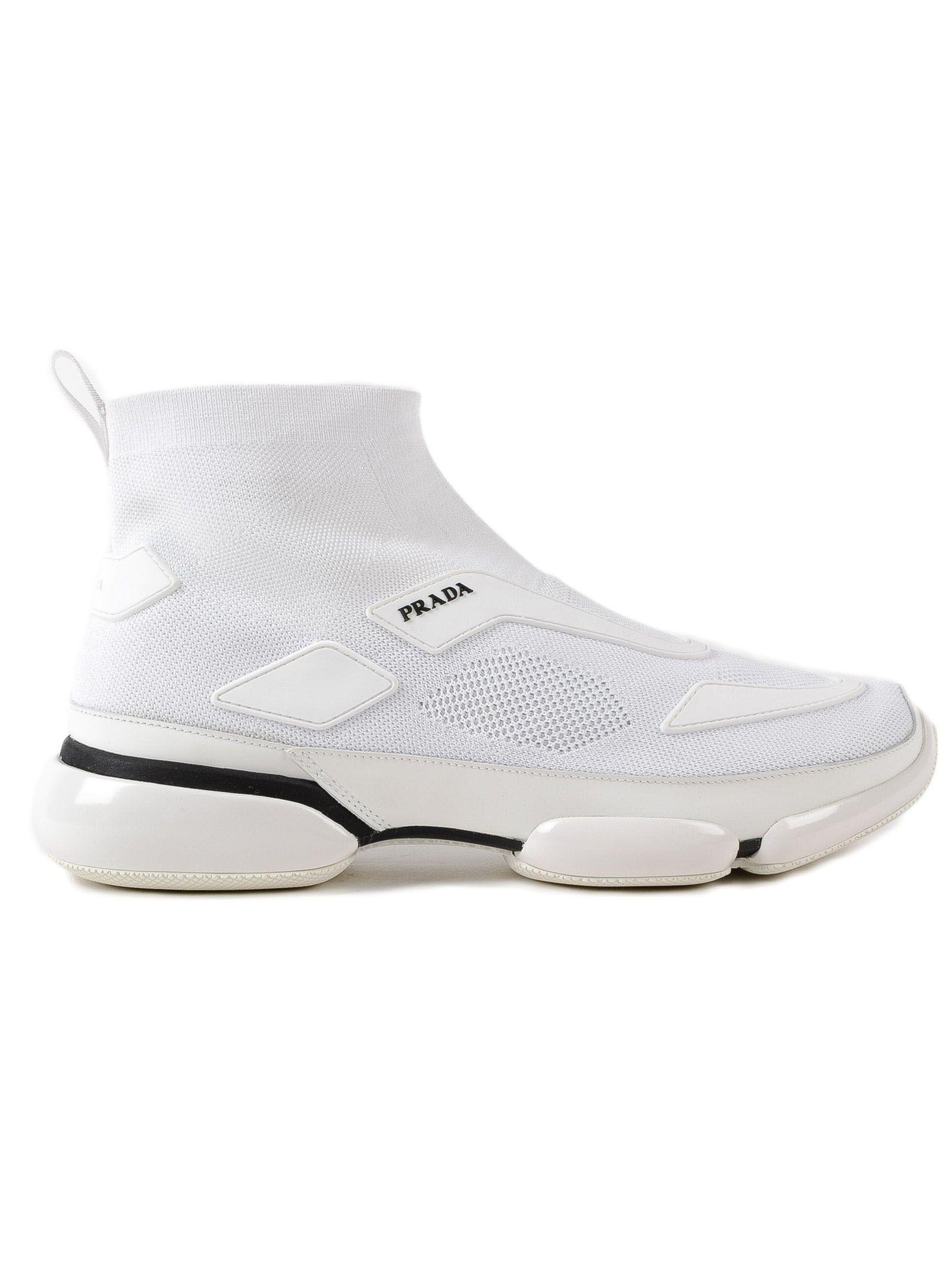e1f43c3e6ef7 Prada Men s Cloudbust Knit Sport High-Top Sneakers