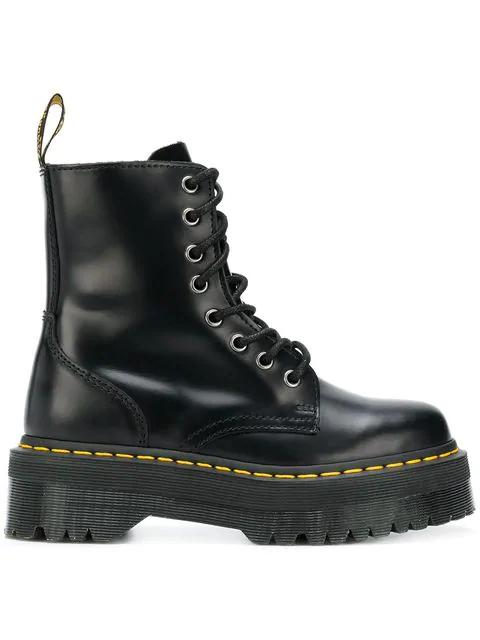 Dr. Martens Dr Martens Jadon Flatform Chunky Boots In 5001 Black