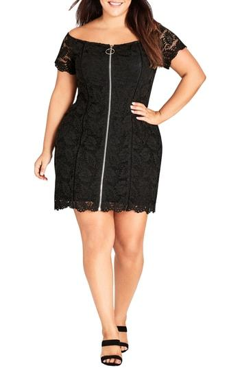 SPECIAL ZIP LACE DRESS