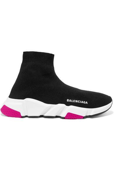 Balenciaga Low-Top Sneakers Speed Runner  Polyester Polyurethane Logo Black In 1000 Blk