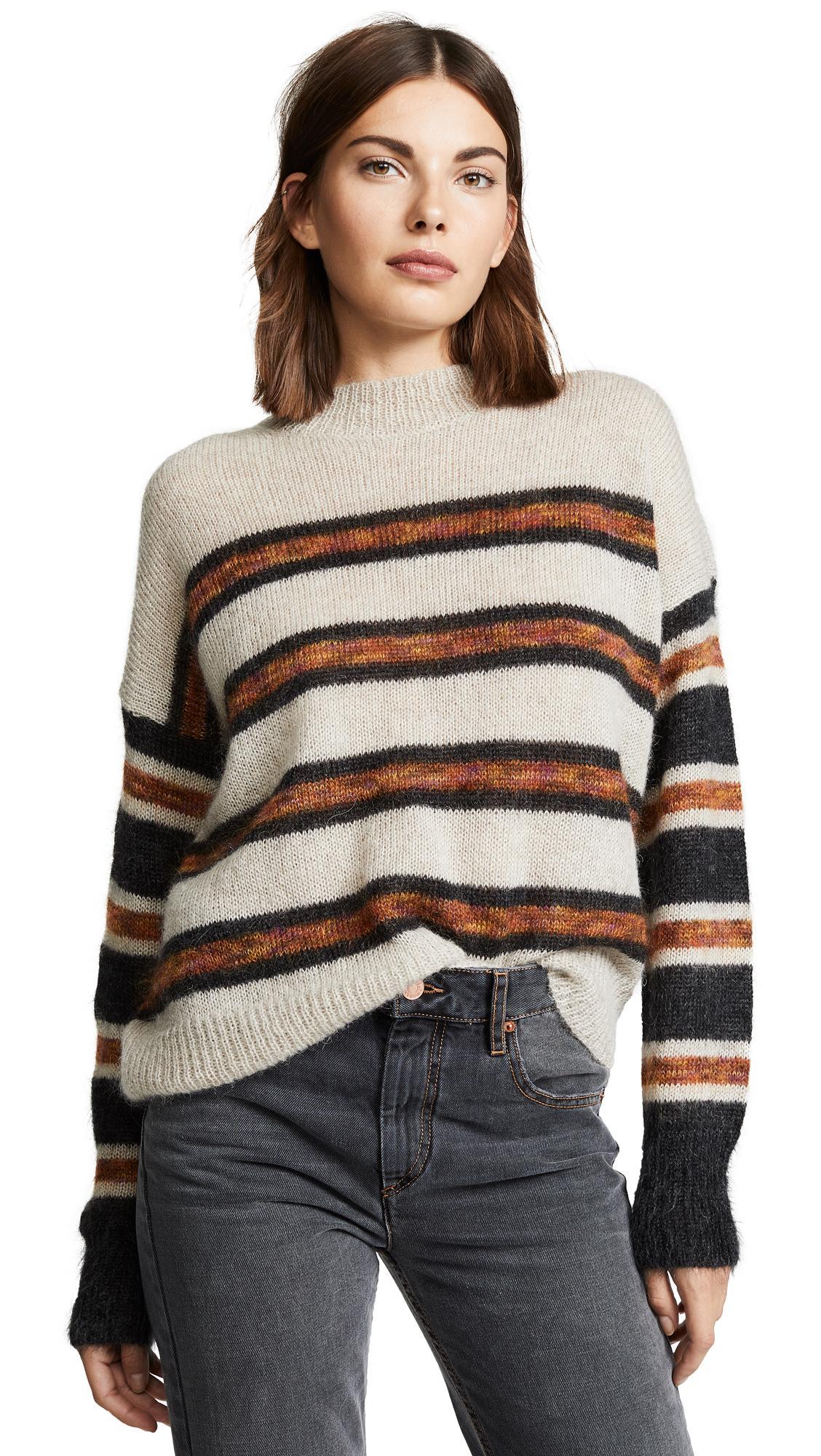 50303e9d8f Etoile Isabel Marant Isabel Marant Etoile White And Black Mohair Russel  Sweater In Ecbk Ecru/