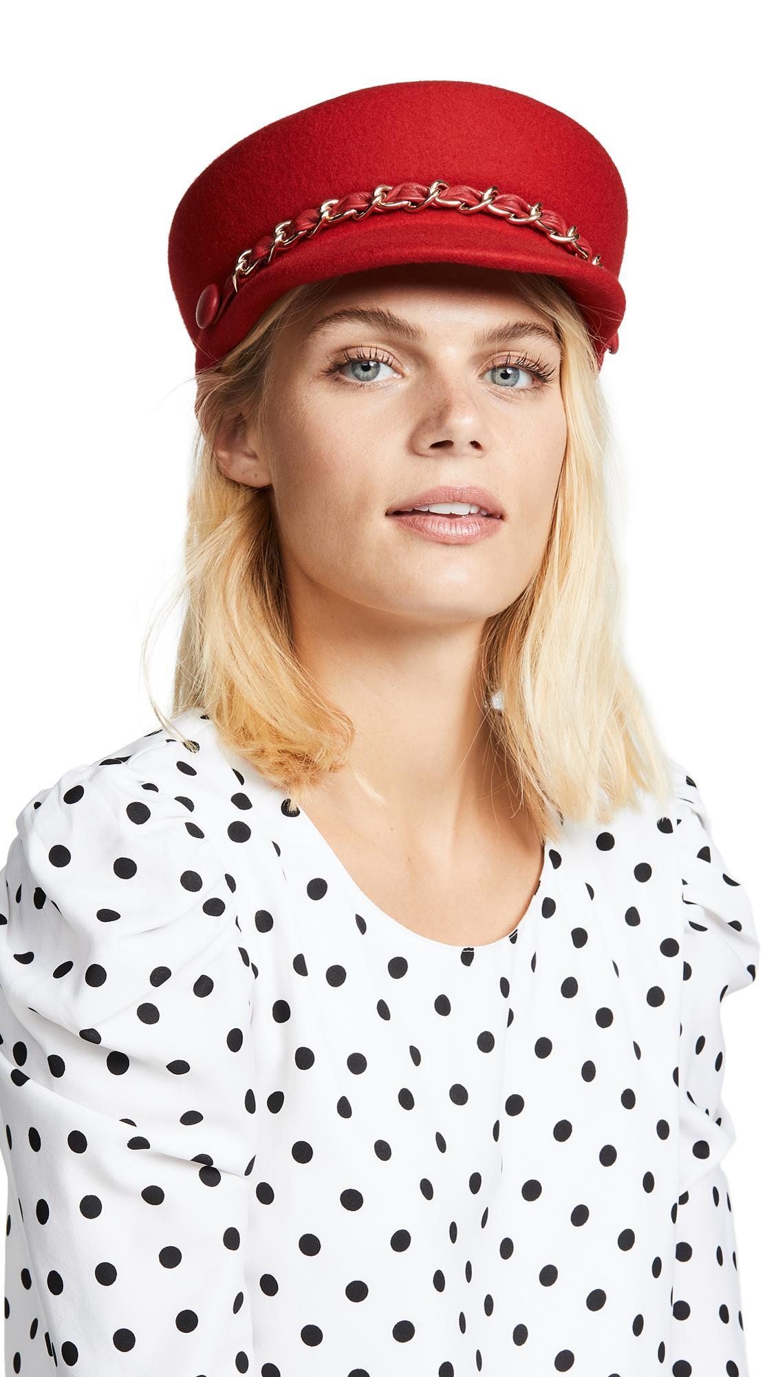 d4d432f6e64 Eugenia Kim Sabrina Wool Baker Boy Cap - Red