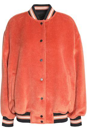 Brunello Cucinelli Woman Cashmere-Felt Bomber Jacket Papaya