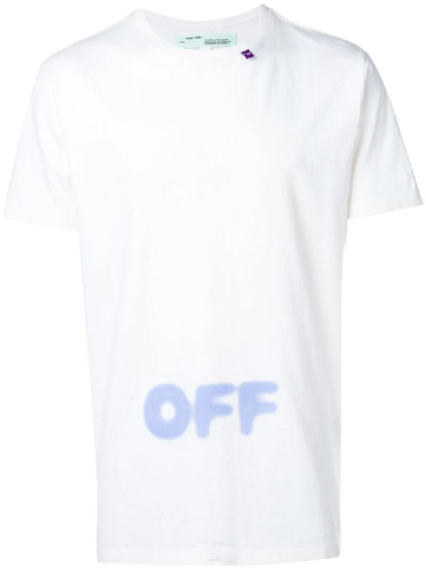 Off-white Blurred Off Cotton T-shirt In White