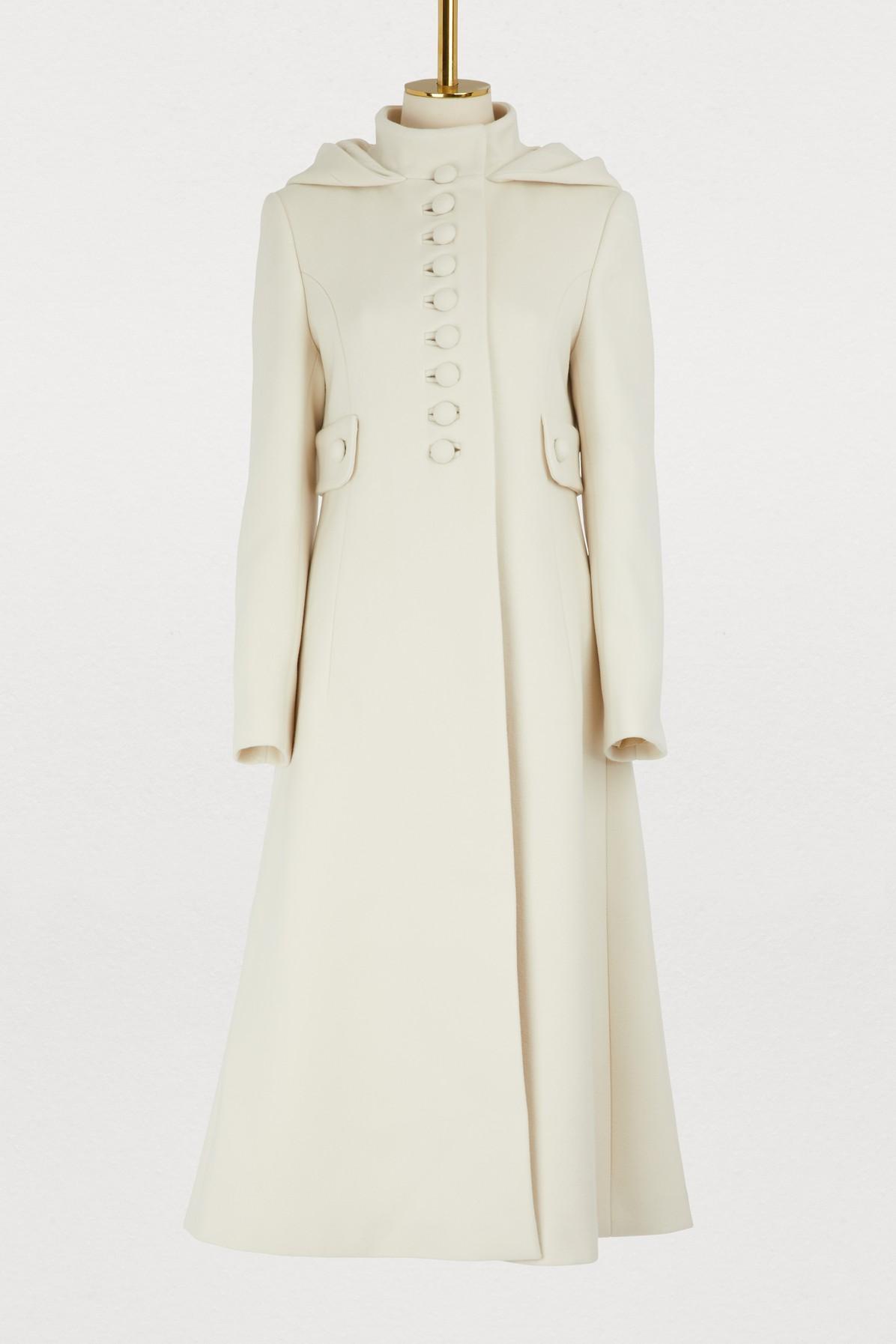 3d77947b2f3a5 Gucci Gardenia Long Hooded Wool Coat