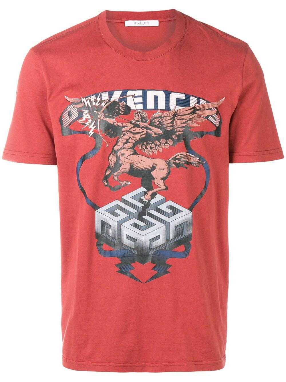 99ba904302cf7 Givenchy Centaur Print T-Shirt In Red. THE WEBSTER