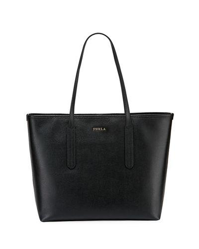 3823830a20c7 Furla Ariana Medium Saffiano Leather Open Tote Bag, Onyx | ModeSens