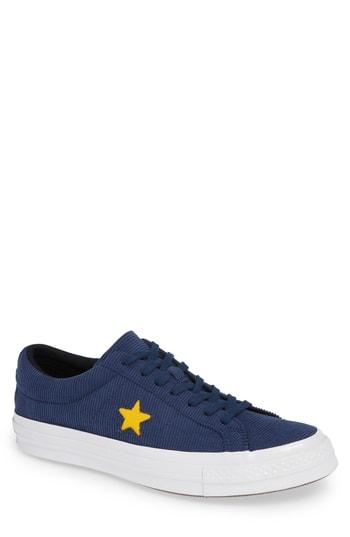 Converse One Star Corduroy Low Top Sneaker In Navy  3bffe7479