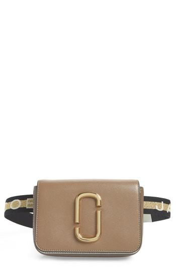 b0d7afe0102e4 Marc Jacobs Hip Shot Convertible Leather Belt Bag - Grey In Brown ...