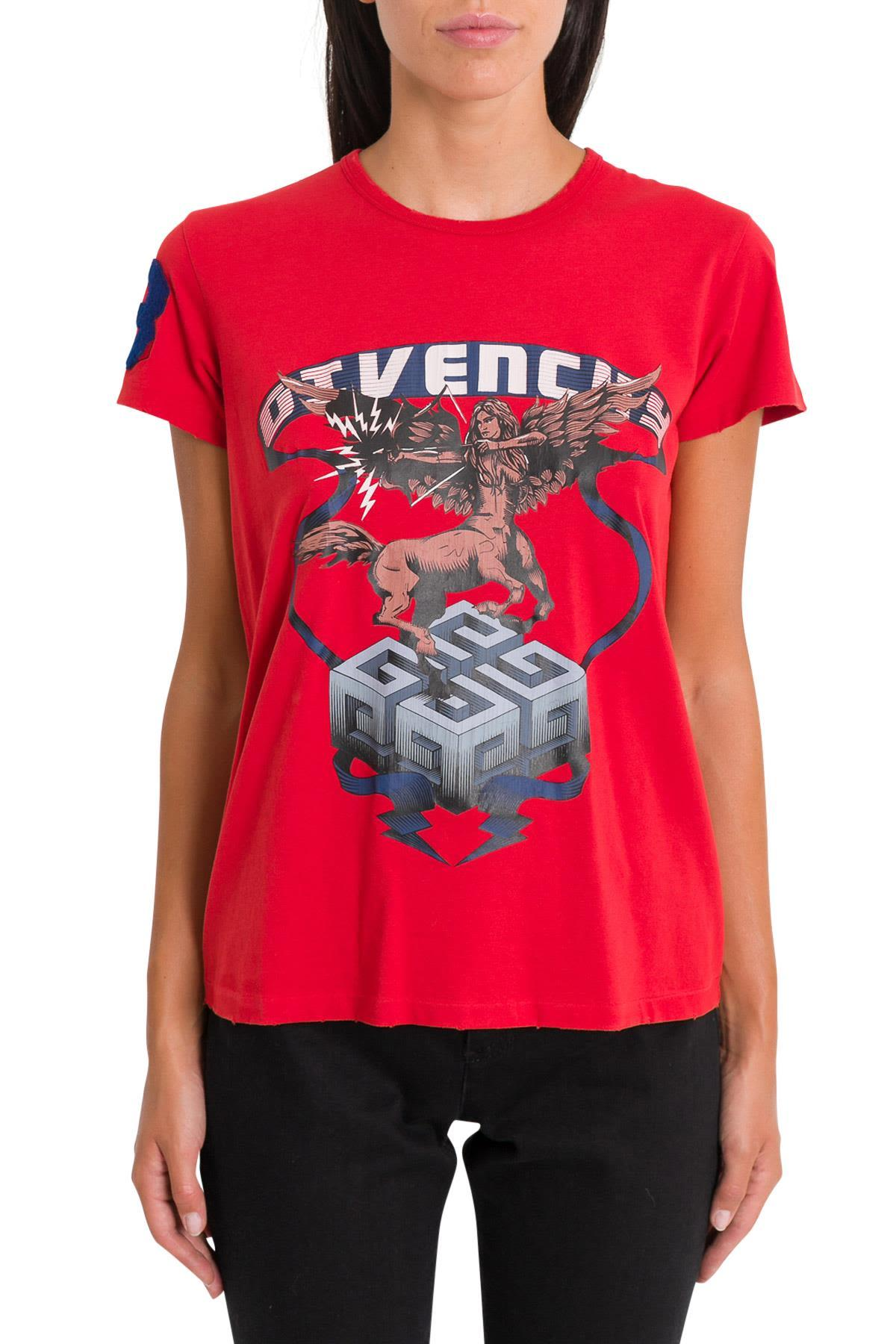 0ee6566a Givenchy Printed Cotton T-Shirt In Red | ModeSens