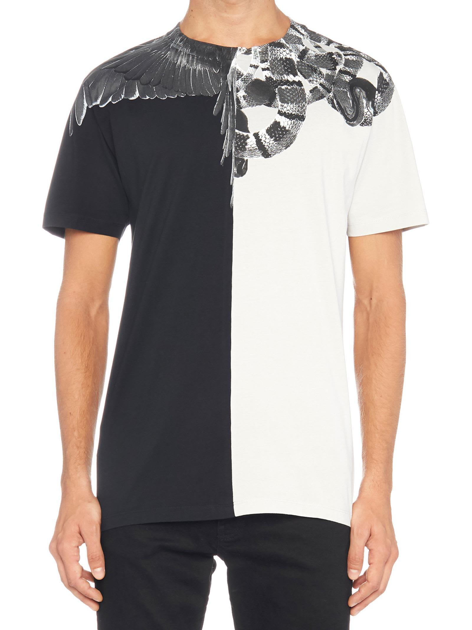 54394236 Marcelo Burlon County Of Milan 'Wings Snakes' T-Shirt In Black ...