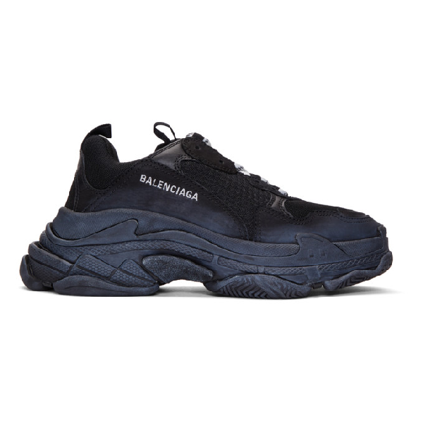 Balenciaga Triple S Clear Sole Sneakers - 黑色 In 1000 Black