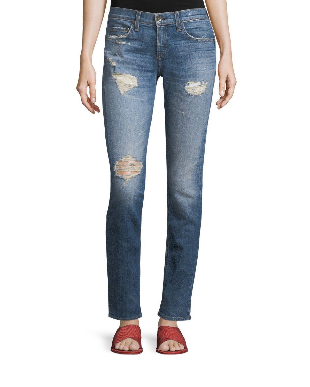 b6e4cc30069 Rag & Bone Dre Slim Boyfriend Jeans In Erv'S | ModeSens