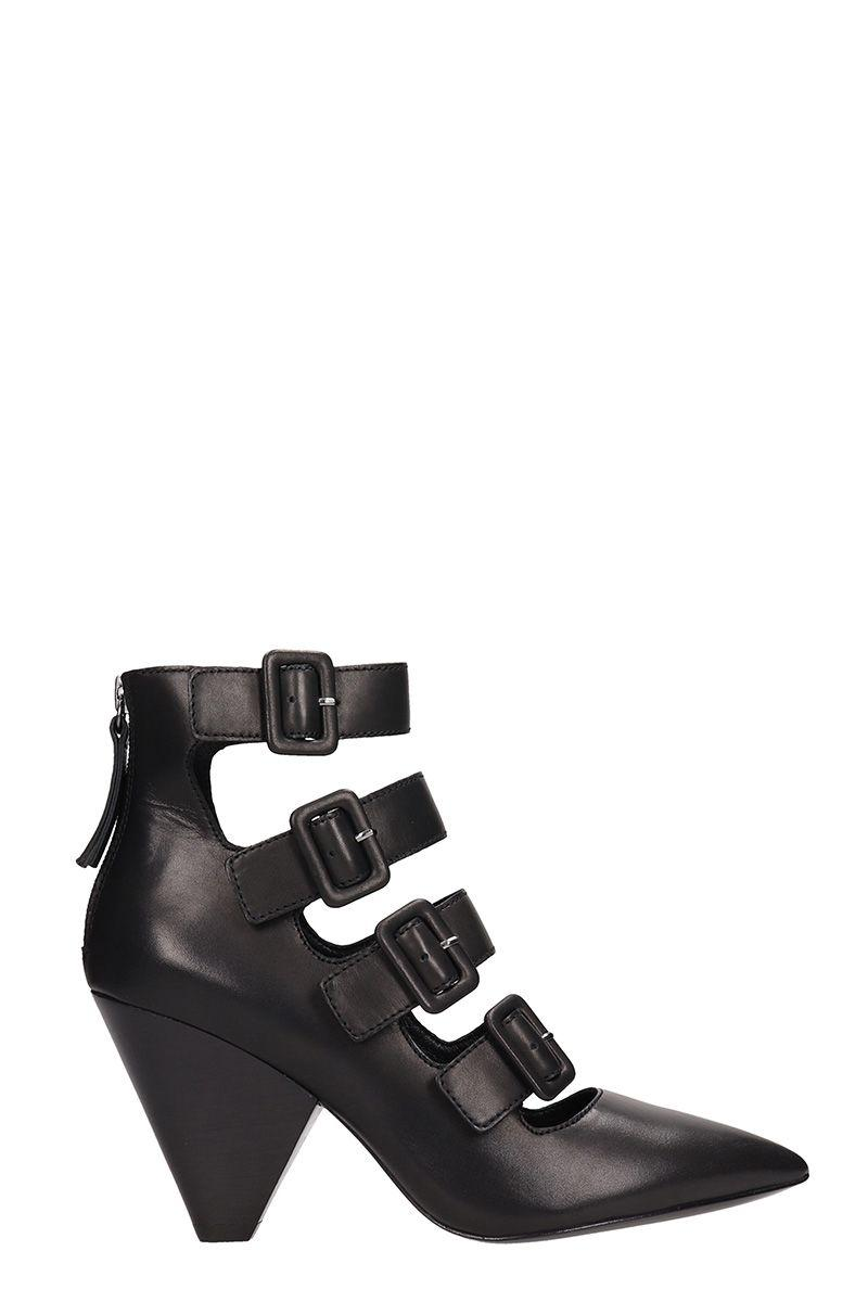 6ea2dcc086a6 Ash Dolby Black Leather Kitten Heel Bootie In Tommy Black