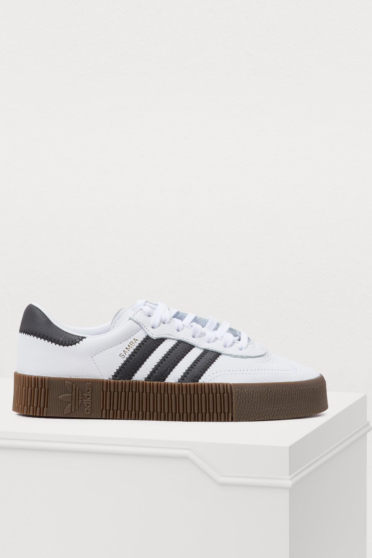 Adidas Originals Samba Rose Sneakers In White With Dark Gum Sole - White dd3f074b5