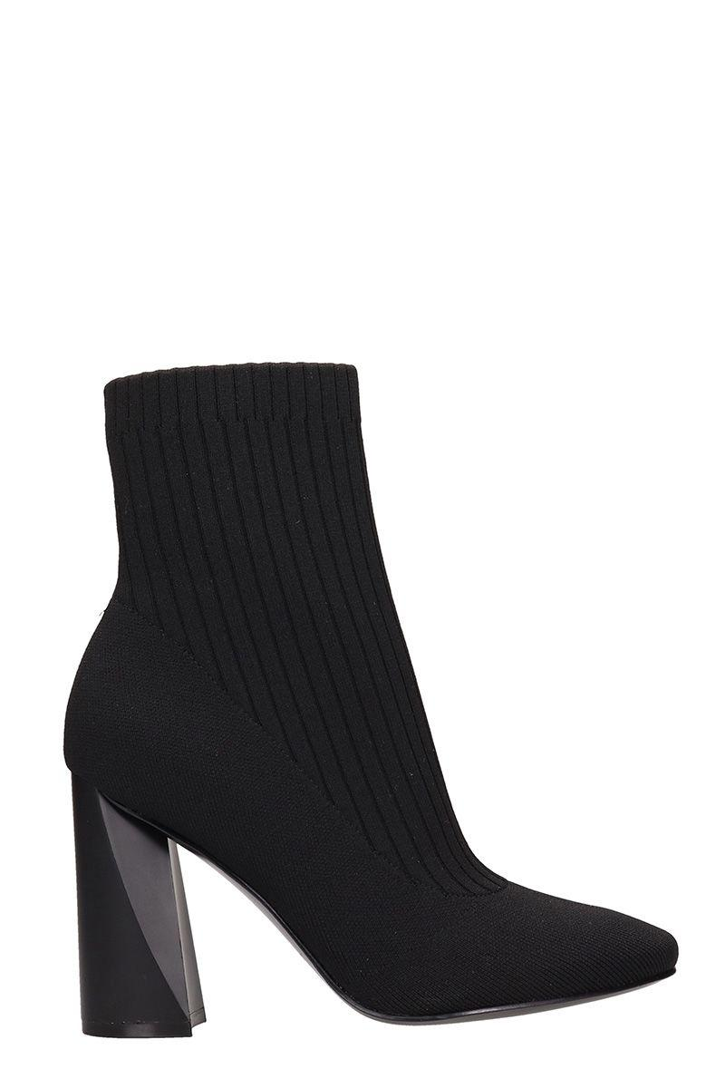 c853fd076 Kendall + Kylie Tina Black Fabric Sock Ankle Boots | ModeSens