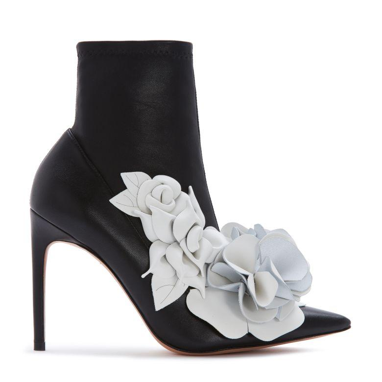 13dff888a5e8 Sophia Webster Jumbo Lilico Floral-AppliquÉD Leather And Suede Ankle Boots  In Black
