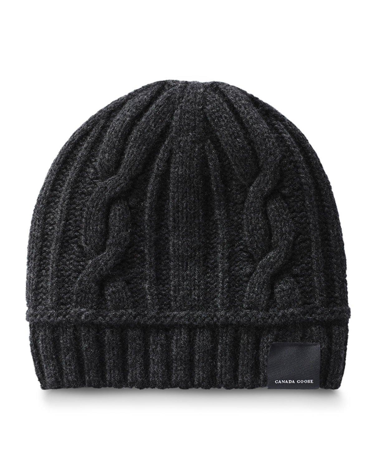 79317171be46b Canada Goose Cabled Merino Wool Toque Beanie - Black