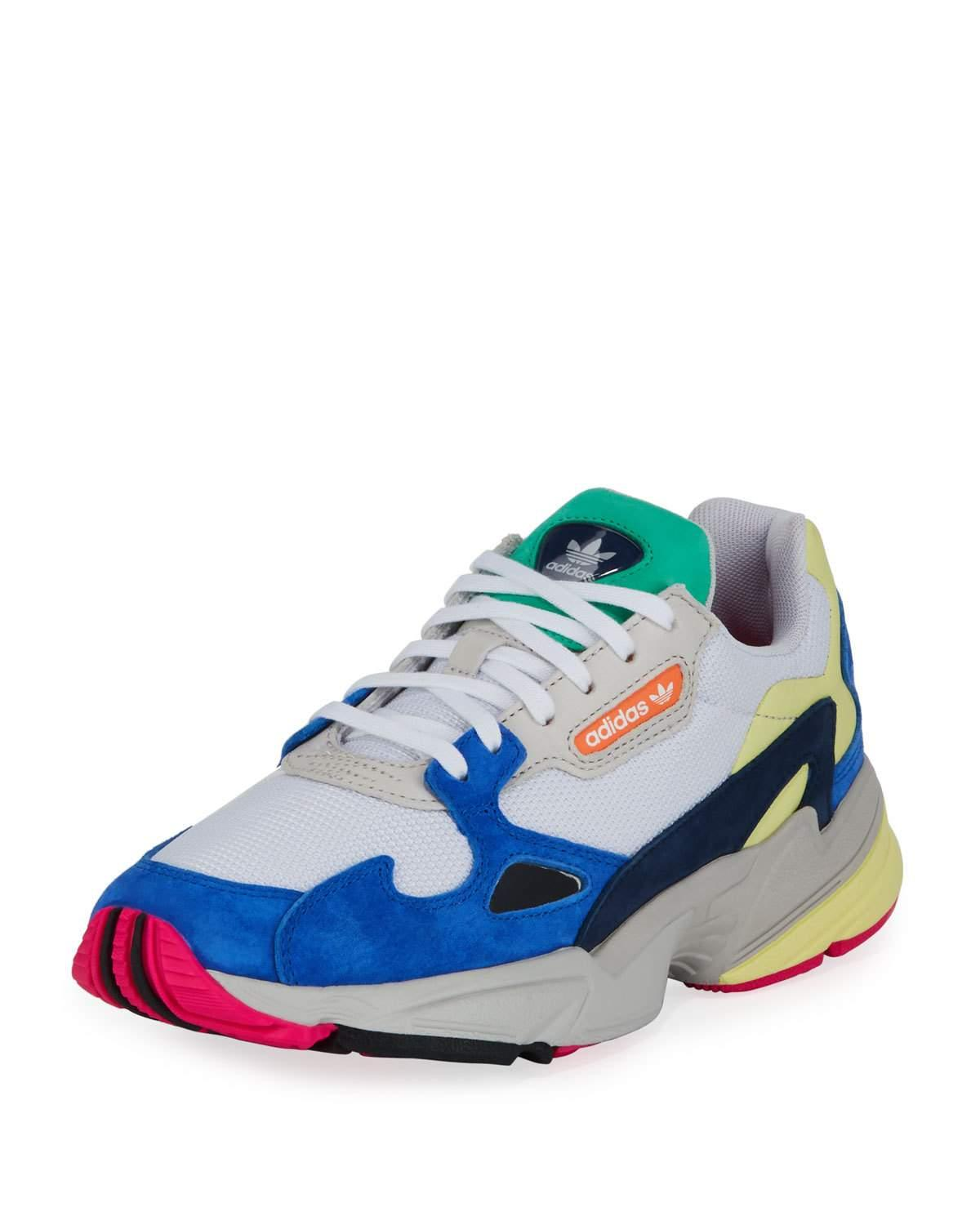 6a70cd7cafb29b Adidas Originals Women S Falcon Color-Block Low-Top Dad Sneakers In White