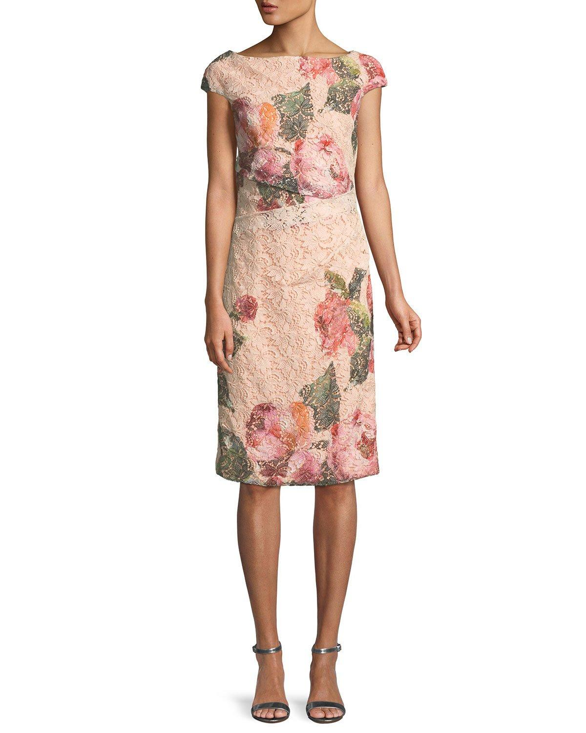 e9b67caf67ca Blush Lace Cocktail Dress With Sleeves - raveitsafe