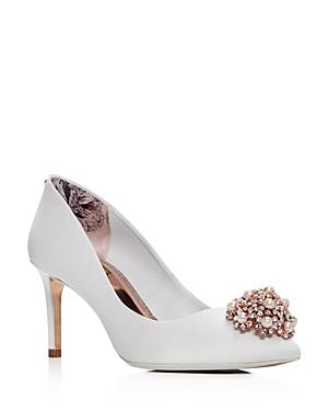 db0e21d10ce99f Ted Baker Tie The Knot Peetch Embellished Bridal Shoes - White ...