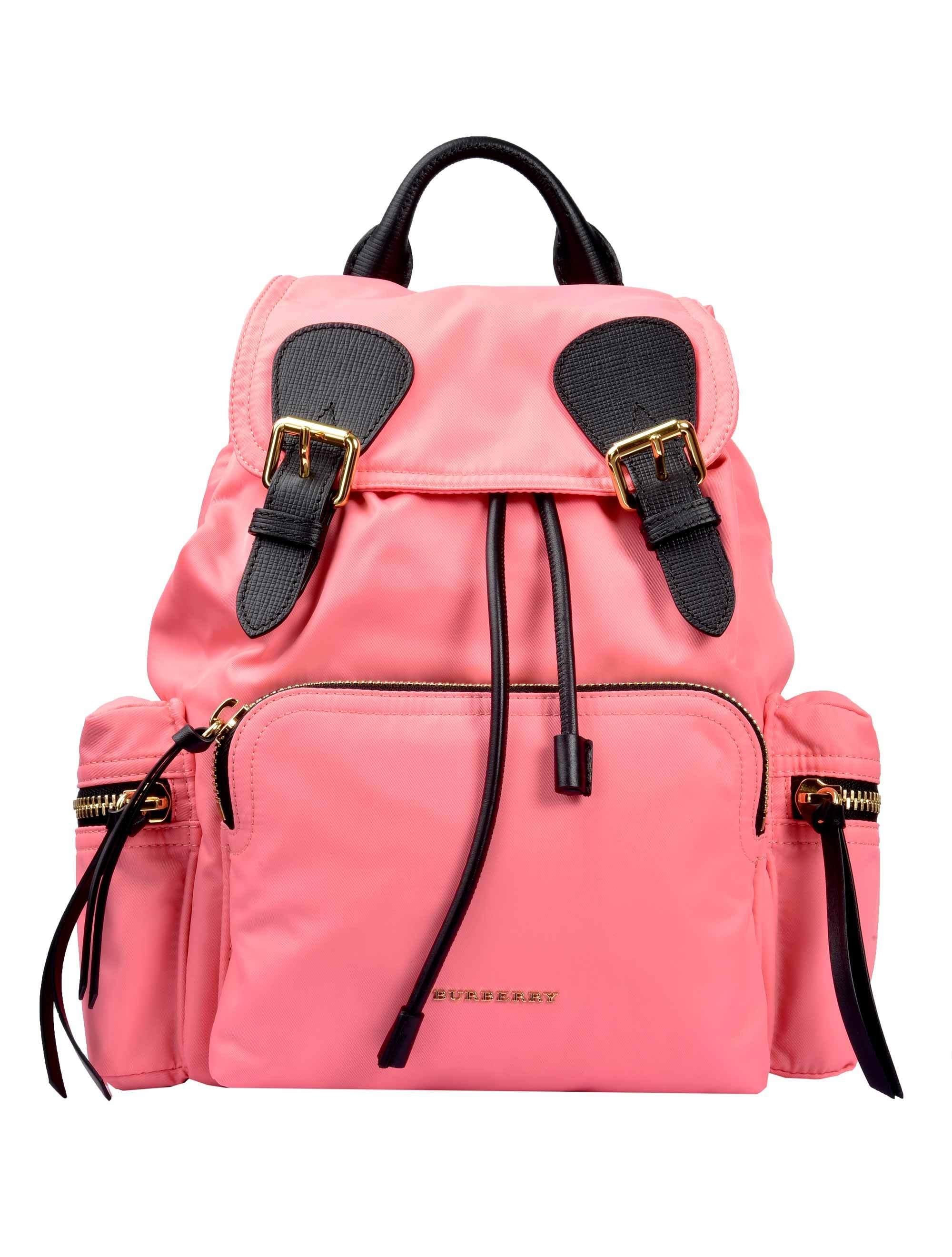847f4041c5c7 Burberry The Medium Rucksack In Technical Nylon And Leather In Pink ...