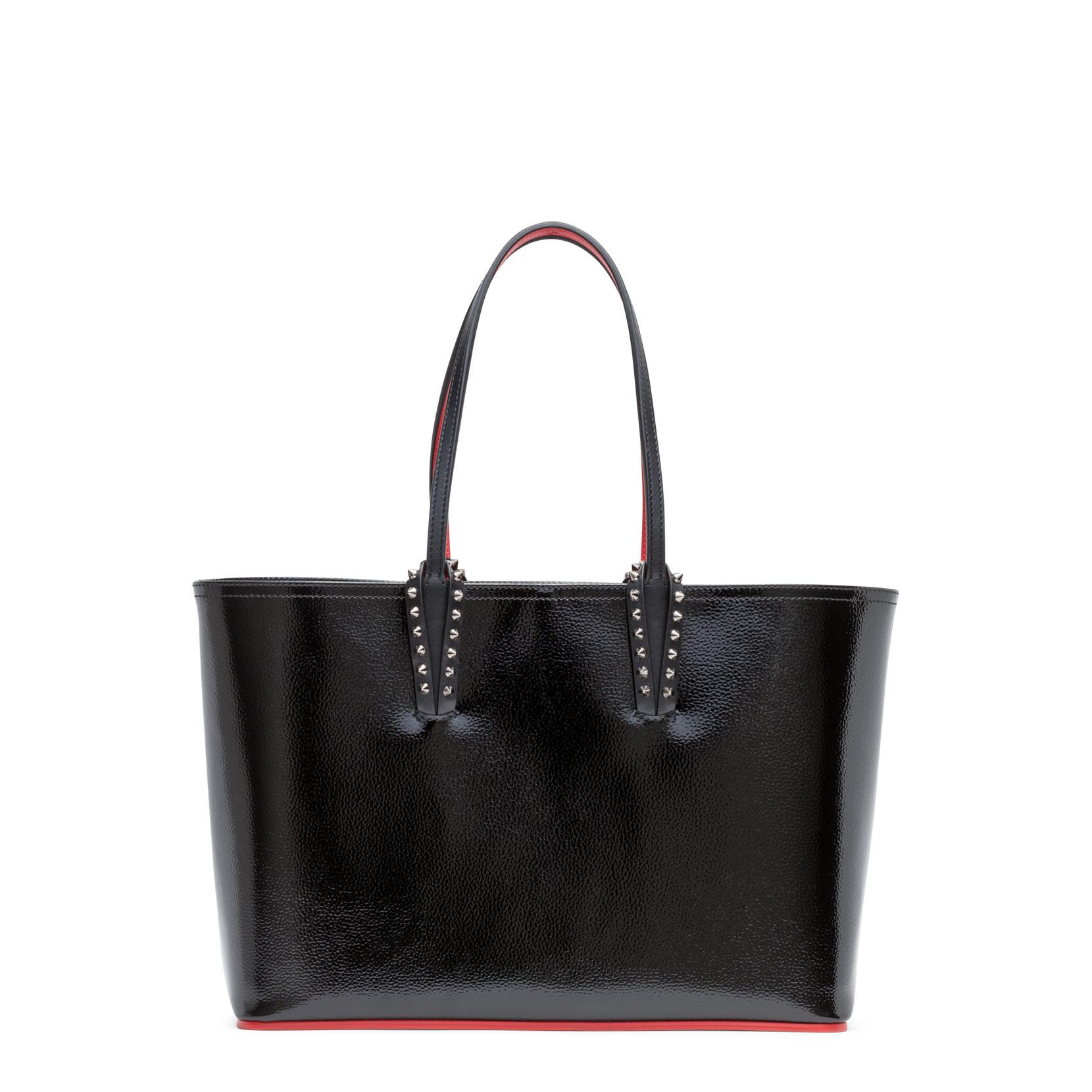 05ebcd84761b Christian Louboutin Cabata Small Black Patent Leather Tote Bag ...