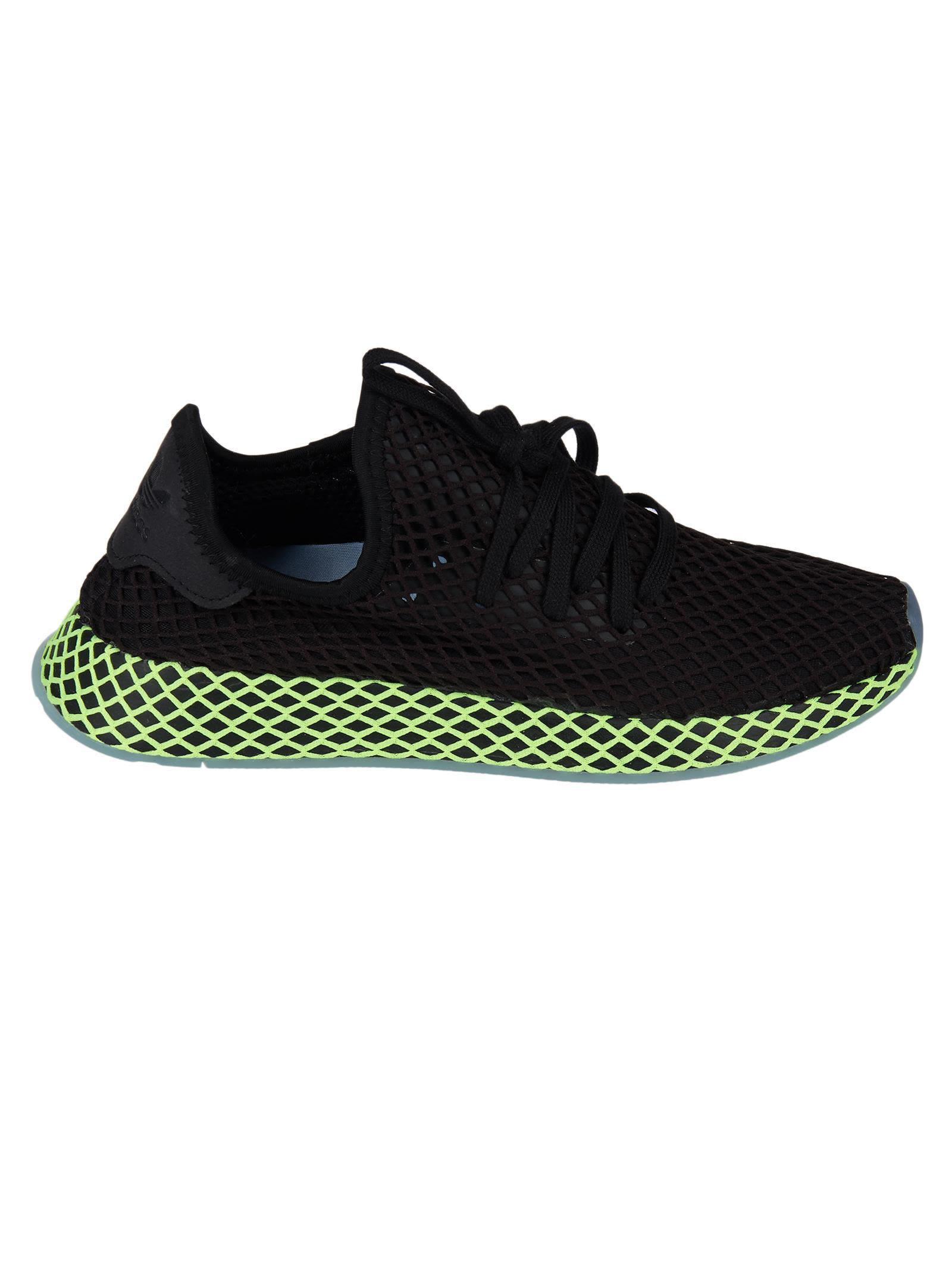 2c7423aa9 Adidas Originals Adidas Black And Green Deerupt Runner Sneakers ...