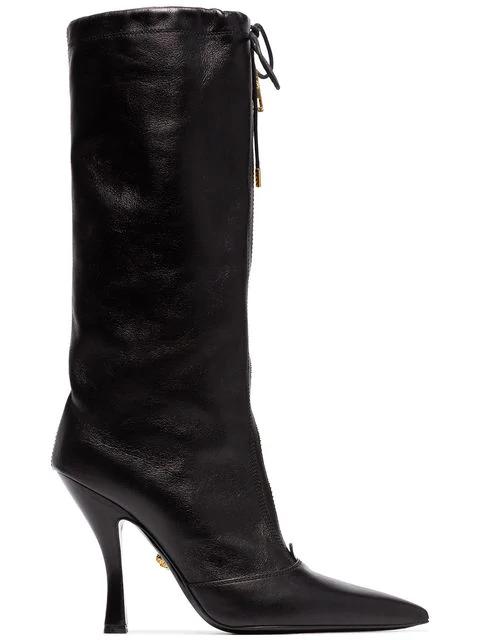Versace Mid-Calf Zip Boots In K41T