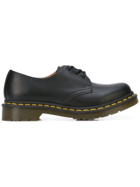 Dr. Martens Dr Martens 1461 Classic Flat Shoes In Black Patent