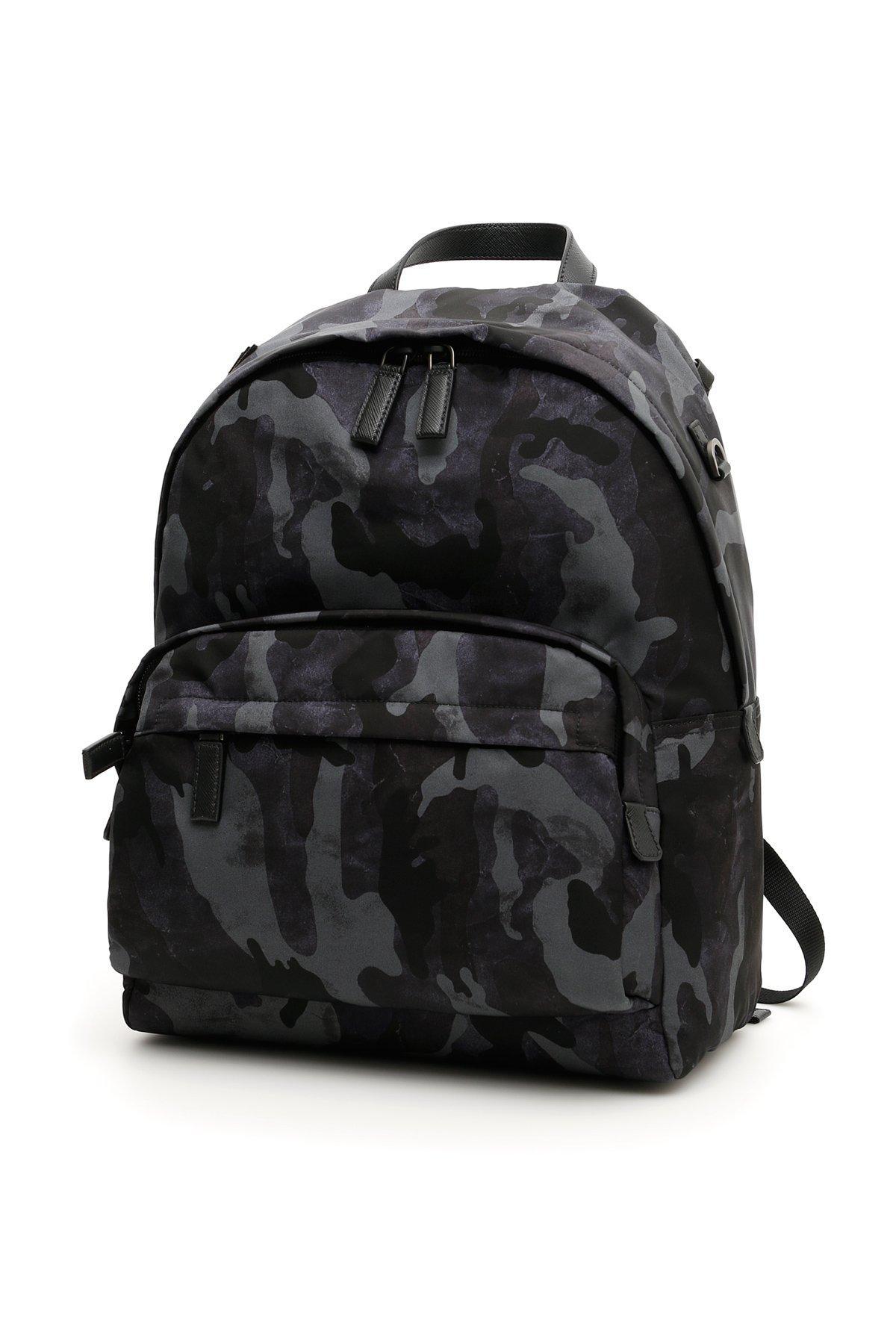 48e5198d33bf Prada Camouflage Nylon Backpack In Blue   ModeSens