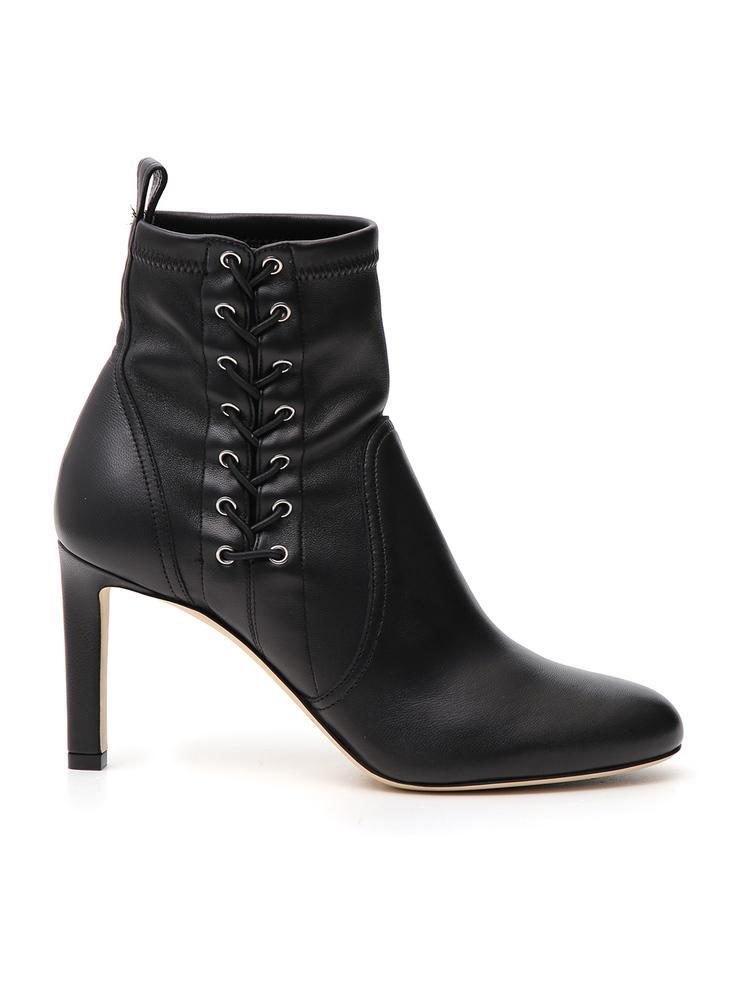 5338f614368 Jimmy Choo Mallory 85 Suede Boots In Black | ModeSens