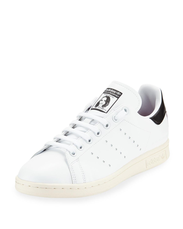 promo code 5c52e ce2e8 Stella Mccartney + Adidas Originals Stan Smith Grosgrain-Trimmed Faux Leather  Sneakers In White