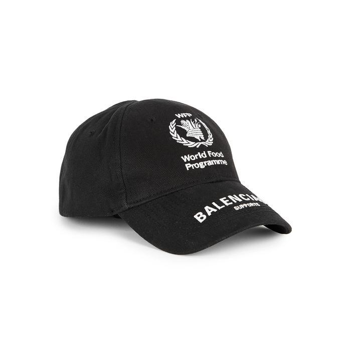 45799de7ac4864 Balenciaga Logo-Embroidered Cotton-Twill Baseball Cap In 1077 Blk/Wh ...