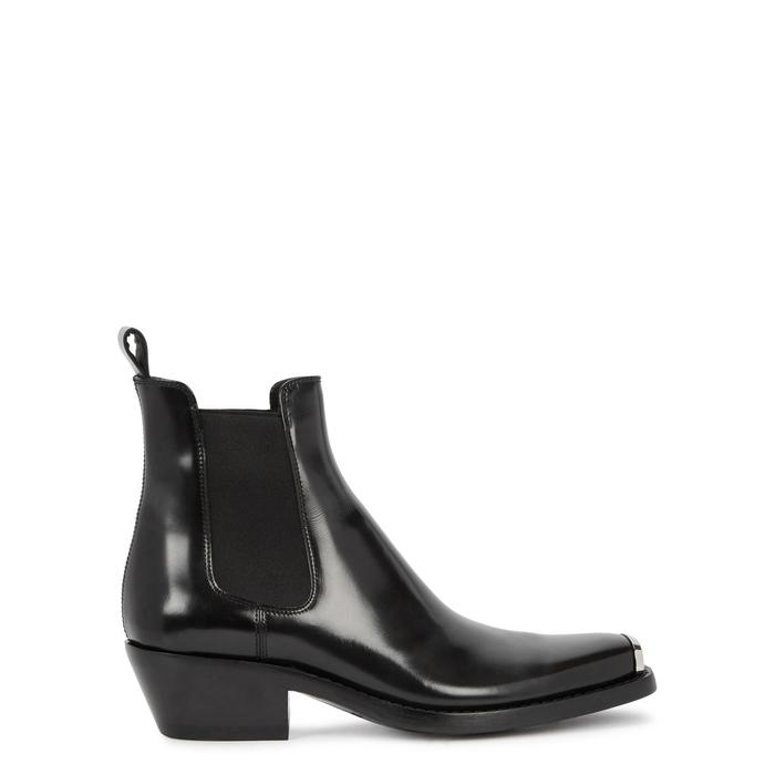 b0094a3ee1e CLAIRE GLOSSED-LEATHER ANKLE BOOTS
