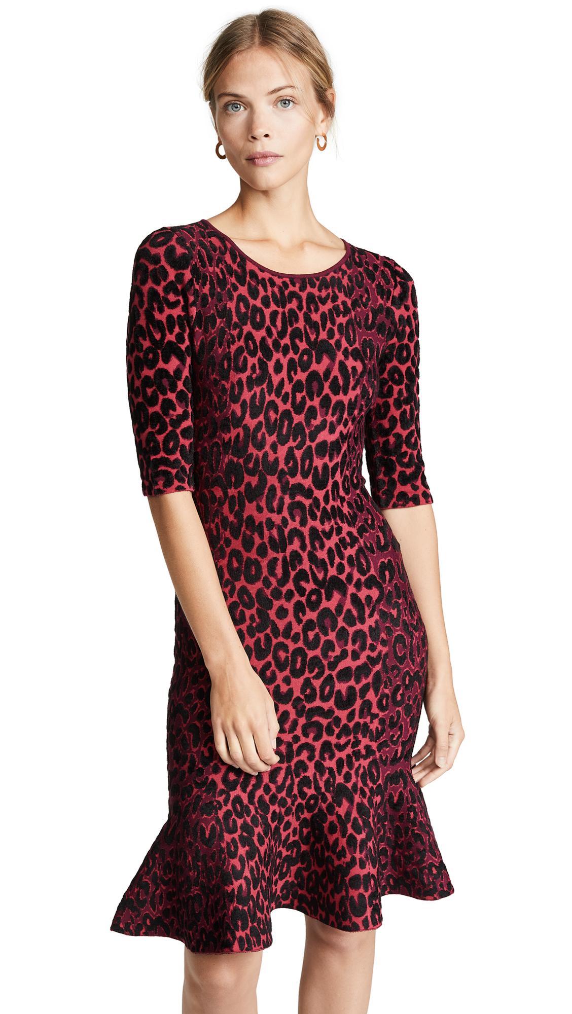 1256bc612b Milly Textured Leopard Animal-Print Mermaid Midi Dress In Cheetah ...