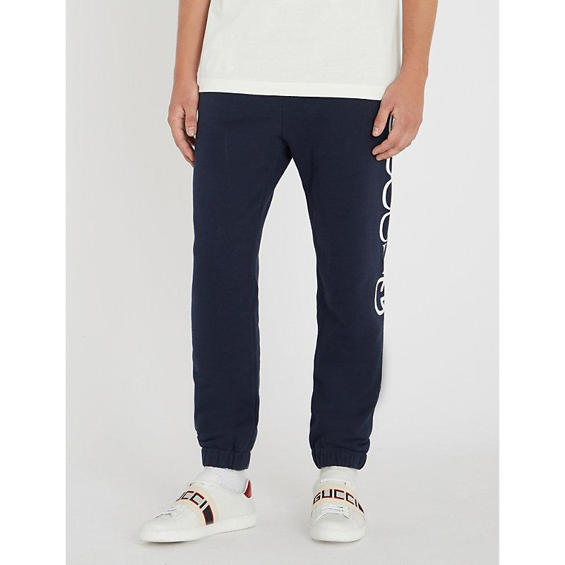 e53b701d356 Gucci Men s Jogging Pant With Ny Yankees Trade  Patch In Blue