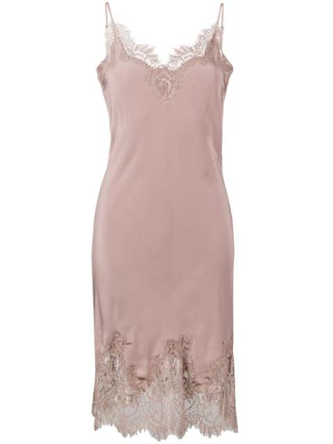Gold Hawk Coco Slip Dress In Pink