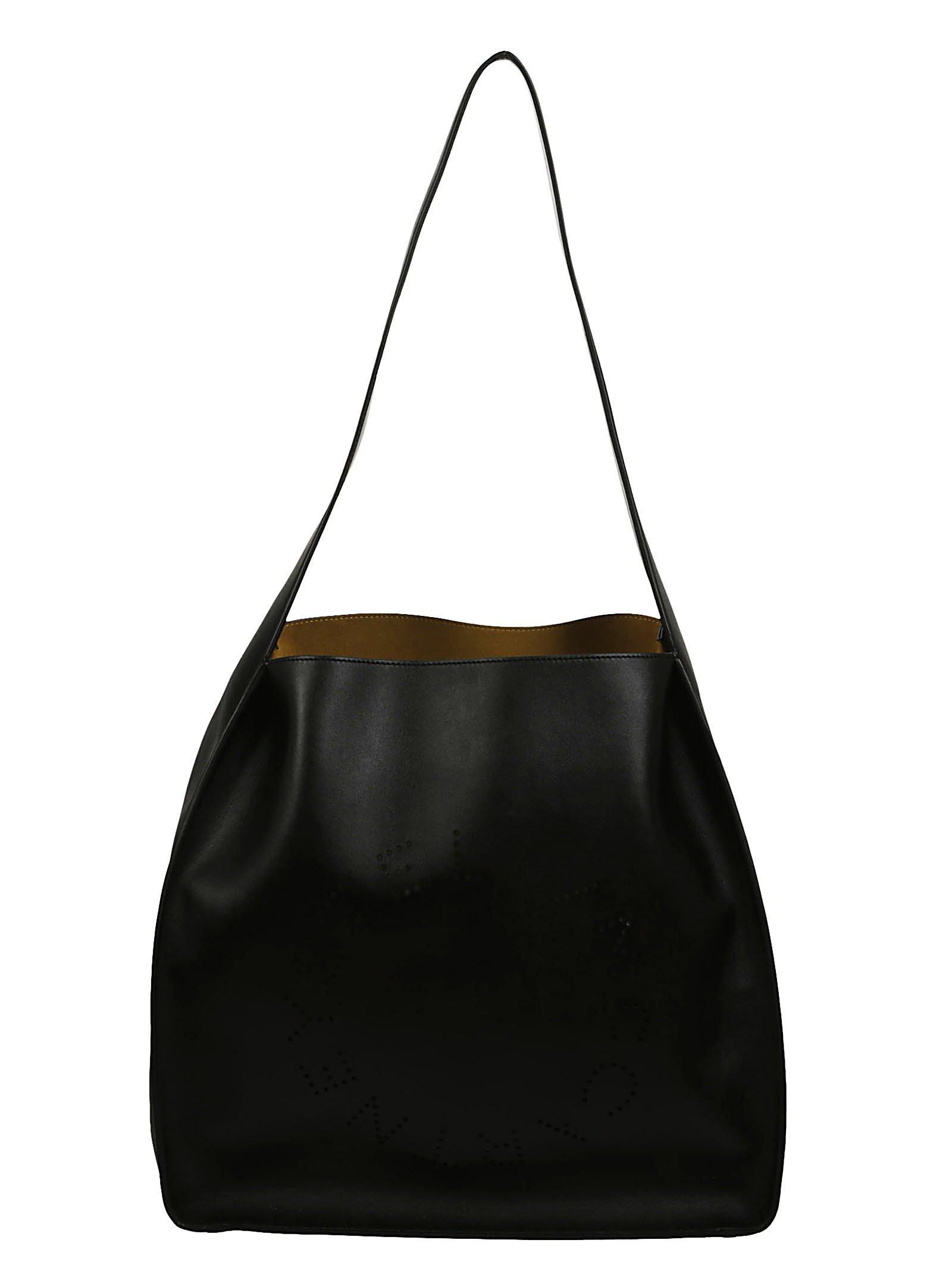 48a6210a2200 STELLA MCCARTNEY. Stella Mccartney Stella Logo Alter Nappa Shoulder Bag in  Black
