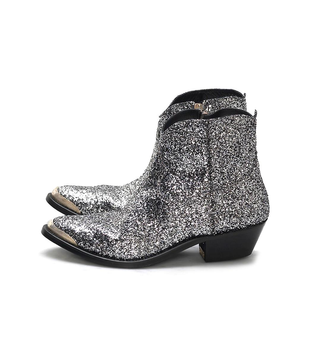 b109191f7bd Silver/Black Glitter Young Boots