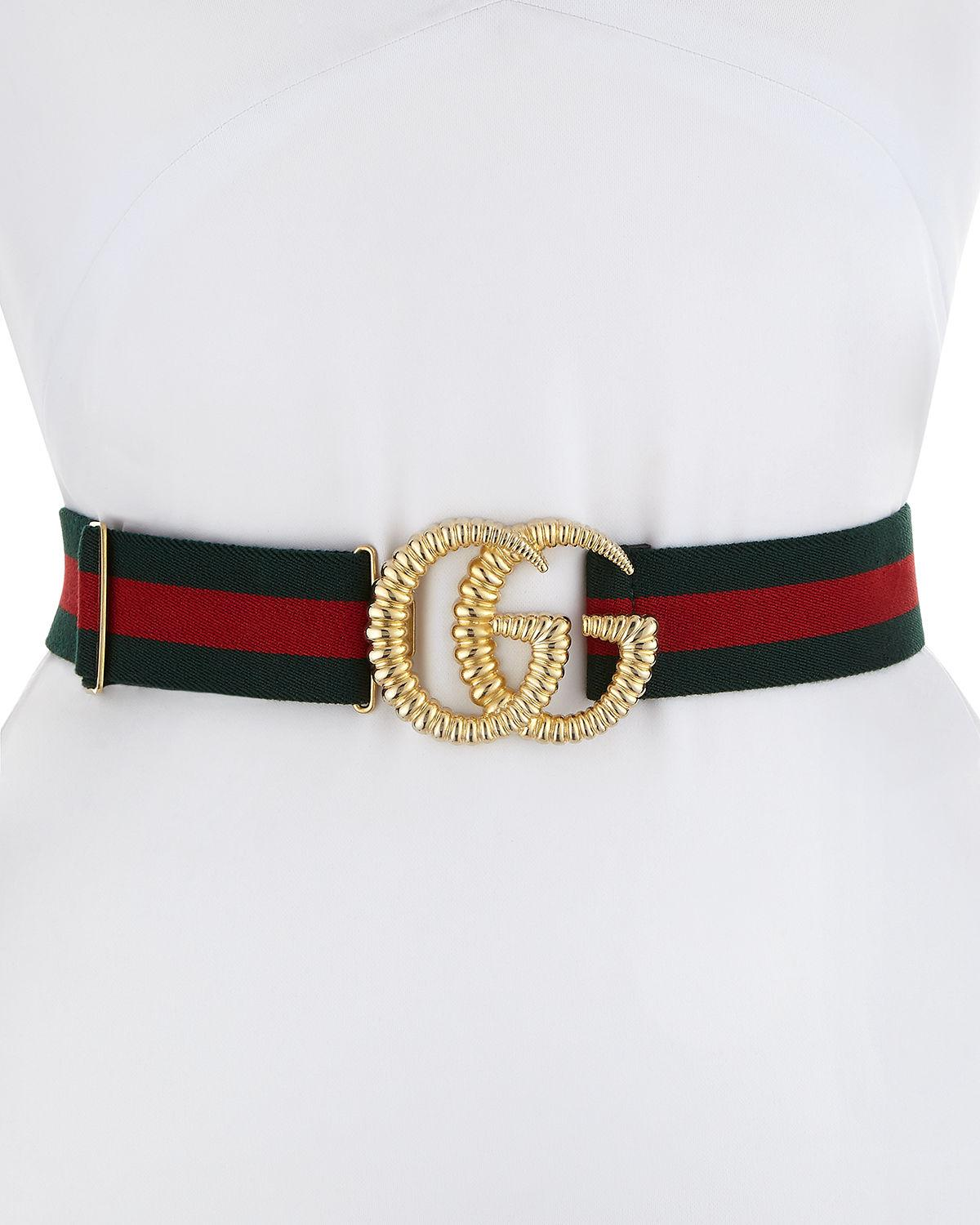 39f3fd866bb Gucci Piccadilly Moon Elastic Web Belt W  Textured Gg Buckle In  Multicoloured. MEMBER ONLY. 450Login to see price