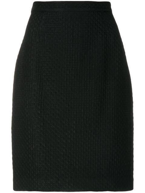 Krizia Vintage Straight Skirt In Black