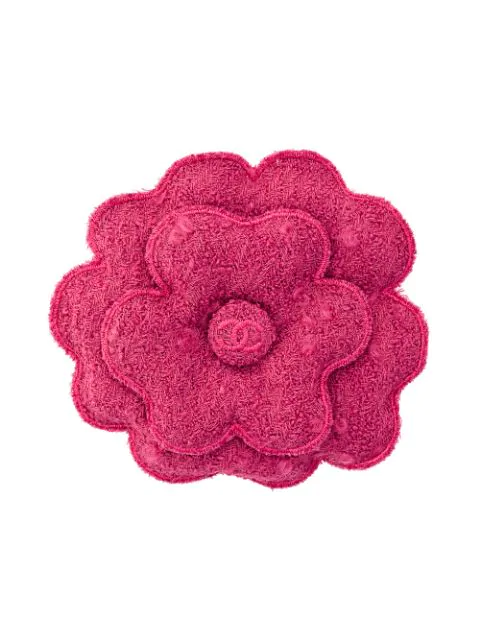 Chanel 1990's Wool Corsage Brooch In Pink