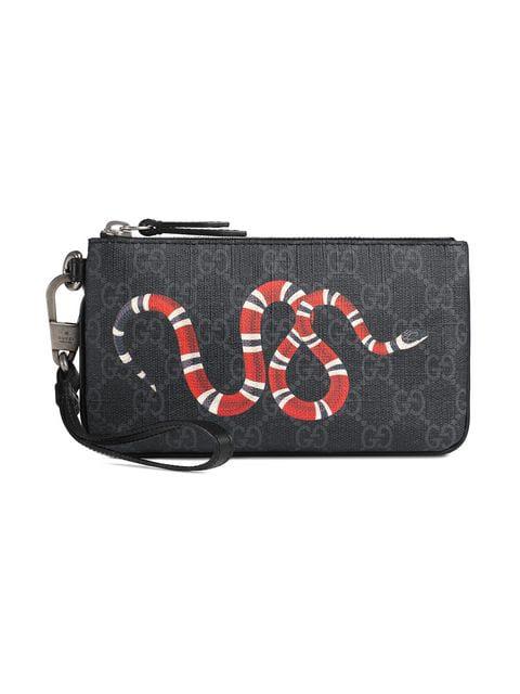 Gucci Men's Briefcase Document Holder Wallet Kingsnake In Black